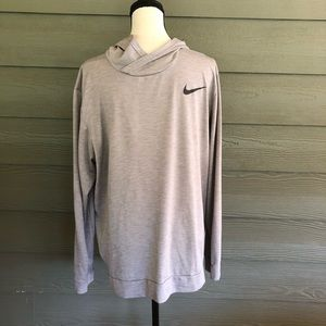 Nike Dri-Fit Pullover Hoodie Shirt Grey Men's Top
